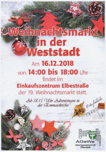 Weihnachtsmarkt in der Weststadt @ Einkaufszentrum Elbestrasse, 38120 Braunschweig