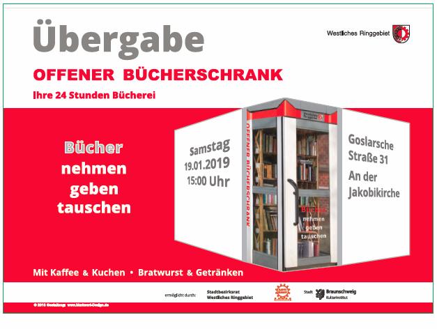 Eröffnung Offener Bücherschrank an der Jakobikirche @ Jakobikirche, Goslarsche Str. 31, 38118 Braunscheig