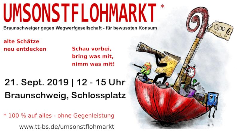 Umsonst-Flohmarkt @ Schlossplatz, 38100 Braunschweig